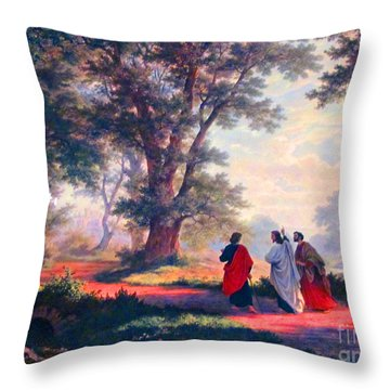 The Road To Emmaus Throw Pillow
