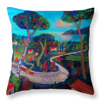 The Road To Recovery Throw Pillow