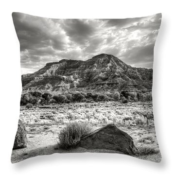Throw Pillow featuring the photograph The Road To Zion In Black And White by Tammy Wetzel