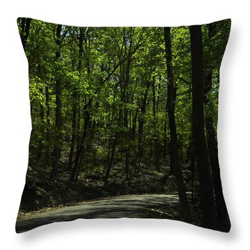 The Roads Of Alabama Throw Pillow