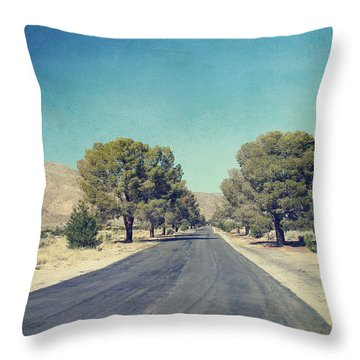 The Roads We Travel Throw Pillow by Laurie Search