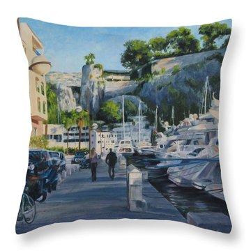 The Rock Ahead Throw Pillow by Connie Schaertl