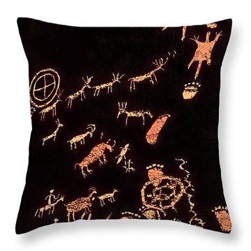 The Rock That Tells A Story 1 Throw Pillow