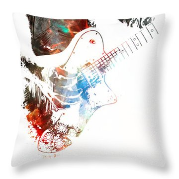 The Roll Of Rock  Throw Pillow