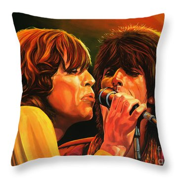 The Rolling Stones Throw Pillow by Paul Meijering