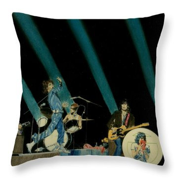The Rolling Stones - Rip This Joint Throw Pillow by Sean Connolly