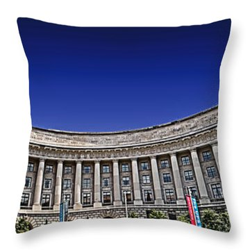 The Ronald Reagan Building And International Trade Center Throw Pillow by Tom Gari Gallery-Three-Photography