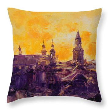 The Roofs Of Lublin Throw Pillow