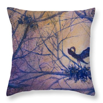 The Rookery Revisited Throw Pillow