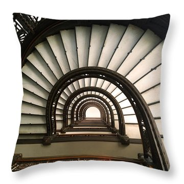 The Rookery Staircase Lasalle St Chicago Illinois Throw Pillow