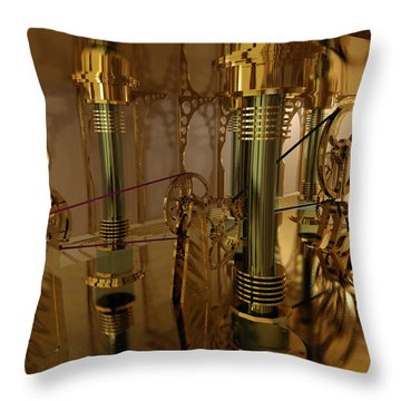 The Room Of Gears Throw Pillow by James Christopher Hill