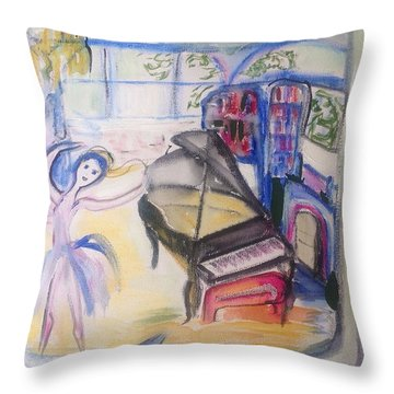 The Room Of My Mother Throw Pillow by Judith Desrosiers