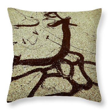 The Roots Throw Pillow by Fei A