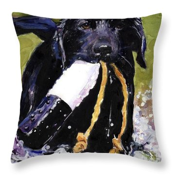The Ropes Throw Pillow by Molly Poole
