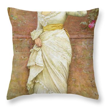 The Rose Throw Pillow by Edward Killingworth Johnson