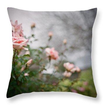 The Rose Garden Throw Pillow by Linda Unger