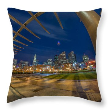The Rose Kennedy Greenway Boston Ma Throw Pillow