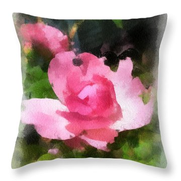 Throw Pillow featuring the photograph The Rose by Kerri Farley