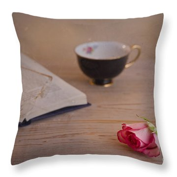 The Rose Throw Pillow by Trevor Chriss