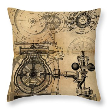 The Rotary Engine Throw Pillow