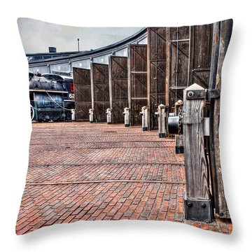 The Roundhouse Throw Pillow by Keith Armstrong