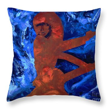 Throw Pillow featuring the painting The Rover by Stuart Engel