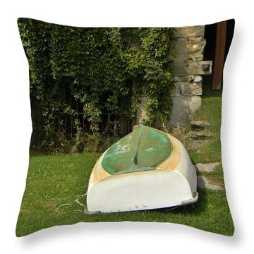 The Rowboat Throw Pillow