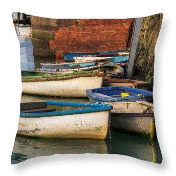 The Rowboats Of Folkestone Throw Pillow by Tim Stanley