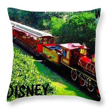 The Roy O. Disney Throw Pillow by David Lee Thompson