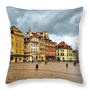 The Royal Castle Square Throw Pillow