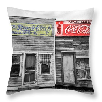 The Royal Club Throw Pillow by Bill Cannon