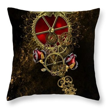 The Royal Key Throw Pillow
