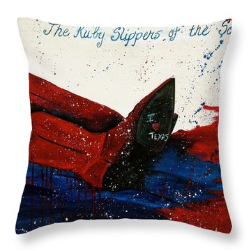 The Ruby Slippers Of The South Throw Pillow