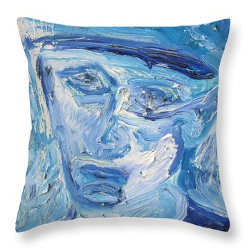 The Sad Man Throw Pillow