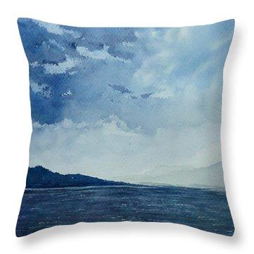The Sado Island Throw Pillow