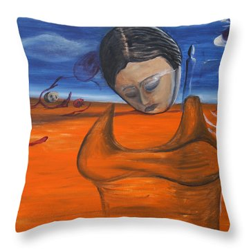 The Saharan Insomniac Throw Pillow