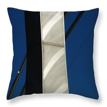 The Sail Sculpture  Throw Pillow by Steve Taylor