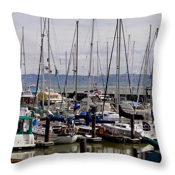 Throw Pillow featuring the photograph The Sailboats by Ivete Basso Photography