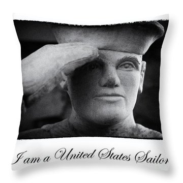 The Sailors Creed Throw Pillow by Tony Cooper