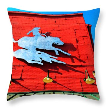 The Saloon Throw Pillow by Chris Berry
