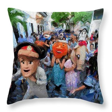 The San Sebastian Street Festival Throw Pillow