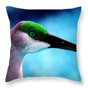 The Sandhilll Crane  Throw Pillow