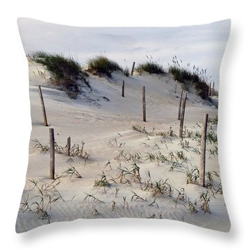 The Sands Of Obx Throw Pillow by Greg Reed