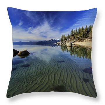 Throw Pillow featuring the photograph The Sands Of Time by Sean Sarsfield