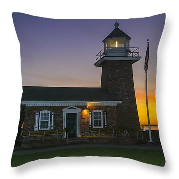 The Santa Cruz Surfing Museum Throw Pillow