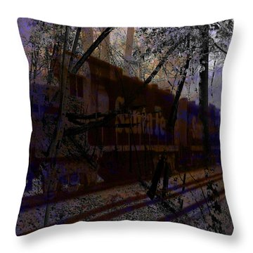 Throw Pillow featuring the digital art The Santa Fe by Cathy Anderson