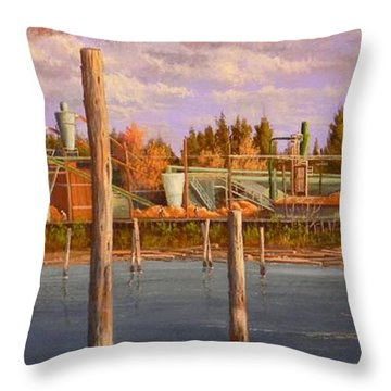 The Sawmill Throw Pillow