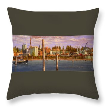 The Sawmill Throw Pillow