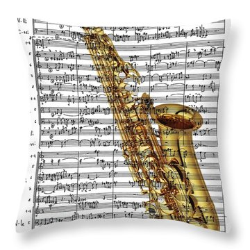 The Saxophone Throw Pillow