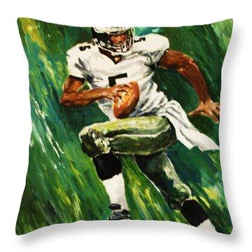 The Scambling Quarterback Throw Pillow